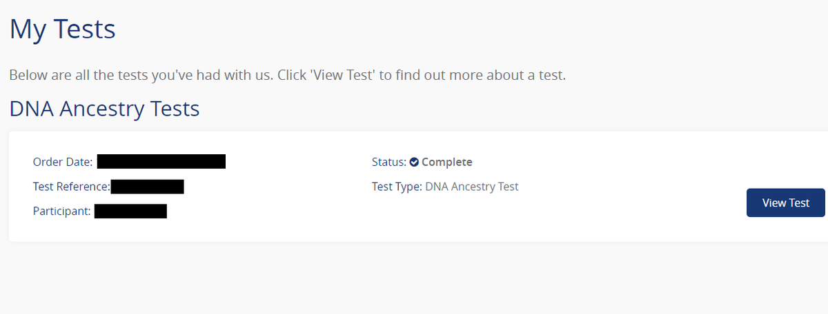 DNA Test Results