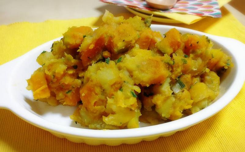 カボチャとサツマイモのルイボスティー煮込み ~geefee レシピ~
