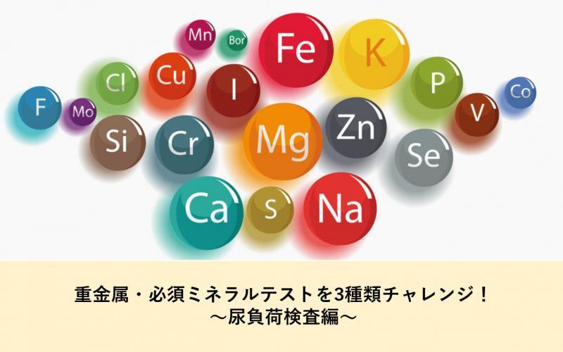 重金属・必須ミネラルテストを3種類チャレンジ!~尿負荷検査編~