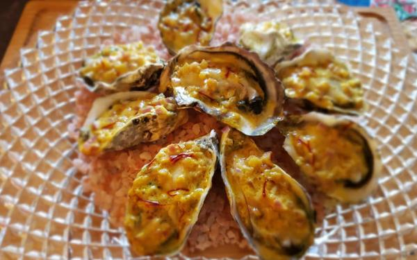 焼き牡蠣のカレーソース