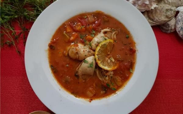 牡蠣のトマトスープ