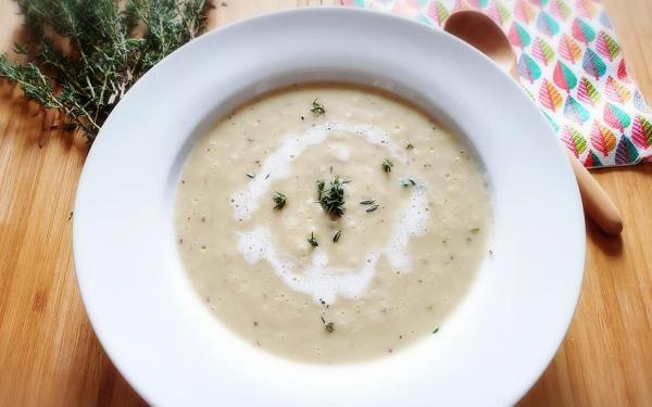 サツマイモと里芋のスープ