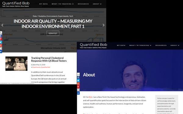 ニューヨークの先鋭的なバイオハッカー「BOB TROIA」のサイト「Quantified Bob」の世界