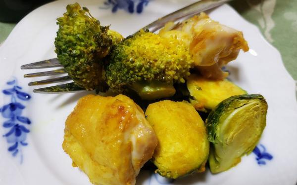 チキンと焼き野菜のターメリック生姜風味